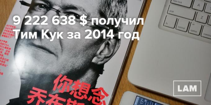 Число дня: сколько заработал Тим Кук за 2014 год. Изображение № 1.