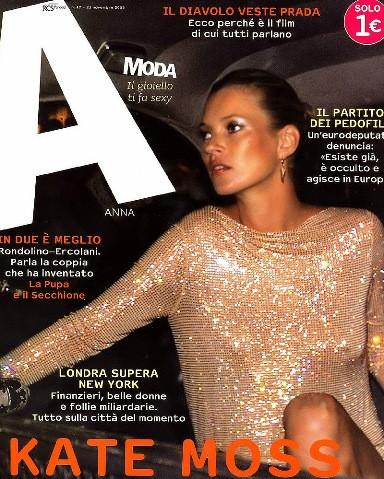 Кейт Мосс, наобложках главных модных журналов планеты. Изображение № 11.