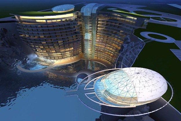 В Китае строят грандиозный отель в скалистой пещере. Изображение № 2.