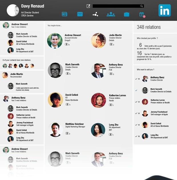 Редизайн дня: концепт веб-версии LinkedIn. Изображение № 2.