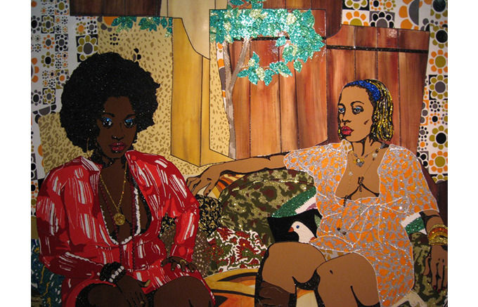 Mickalene Thomas, Just a Whisper Away, 2008. Изображение № 20.