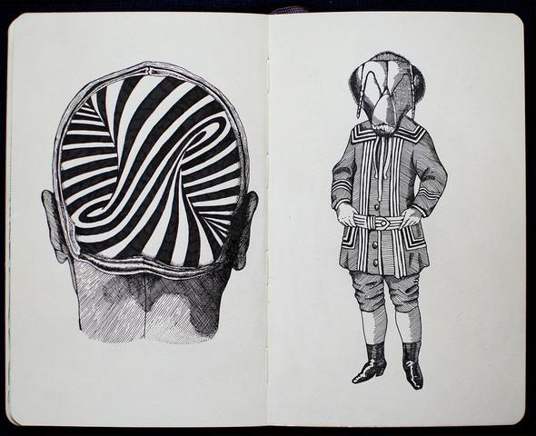 Чёрные ручки, молескин. Изображение №9.