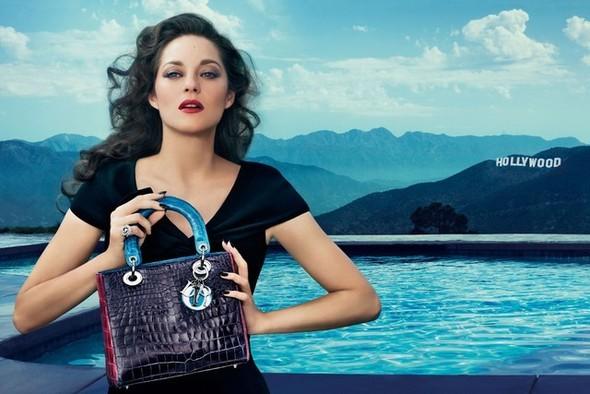 Превью кампании: Марион Котийяр для Lady Dior. Изображение № 1.