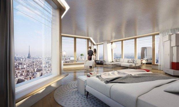 В Париже согласились строить небоскрёб-треугольник. Изображение № 13.