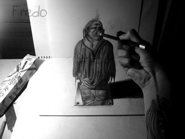 """Изображение 19. Реалистичные 3D рисунки """"в карандаше"""".. Изображение № 19."""