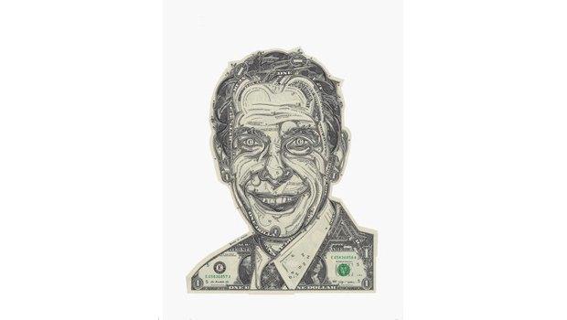 Художник создаёт коллажи из долларов. Изображение № 2.