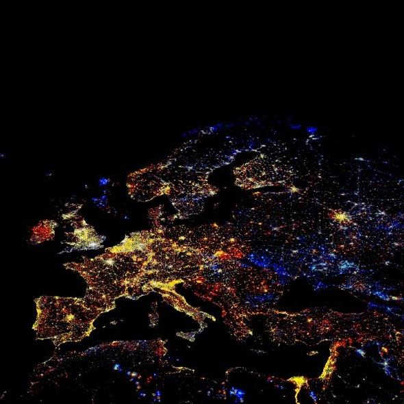 Взгляд из космоса.Nighttime Lights of the World. Изображение № 1.