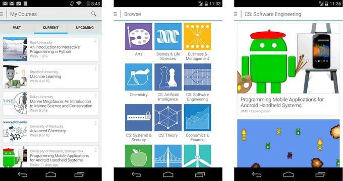 Онлайн-курсы Coursera появились на Android. Изображение № 1.