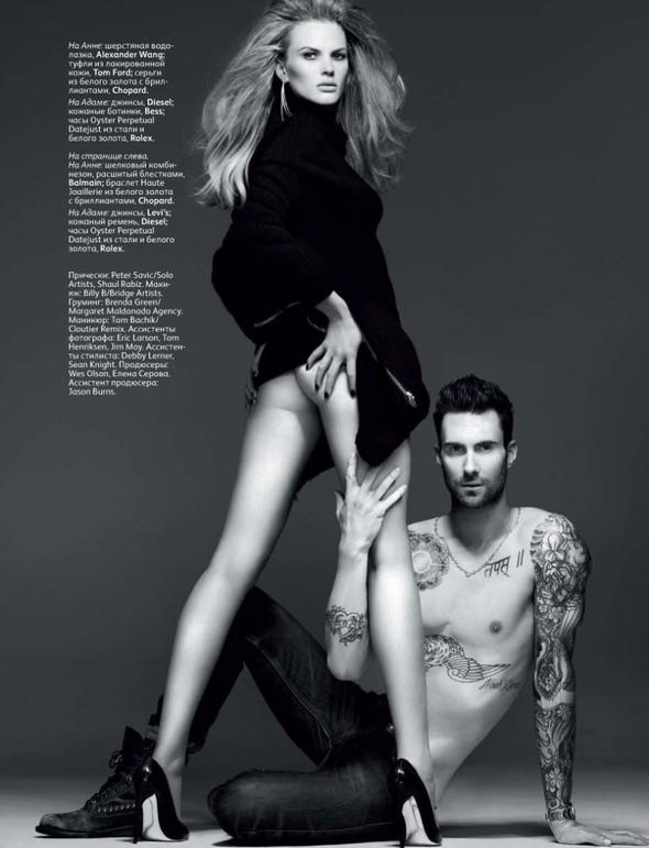 Съёмка: Анна Вялицына и Адам Ливайн для российского Vogue. Изображение № 10.