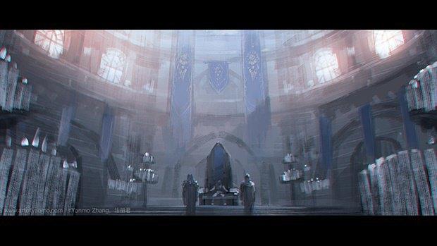 Китайский художник перерисовал кадры из трейлера «Варкрафта». Изображение № 4.