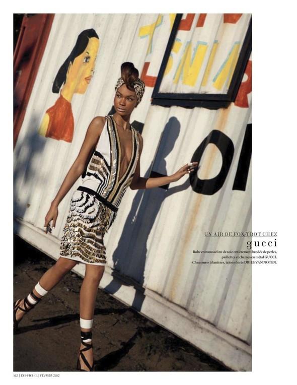 Съёмка: Шанель Иман для L'Officiel. Изображение № 20.