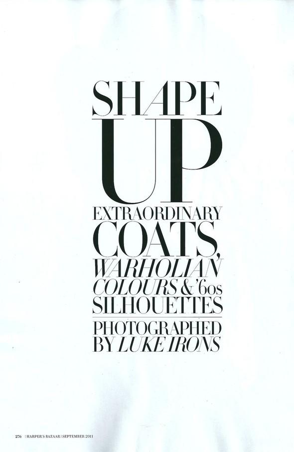 Съёмка: Джемма Бейнес для Harper's Bazaar. Изображение № 1.
