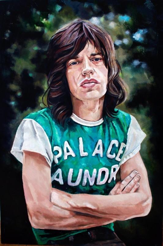 Mick Jagger Холст,масло Размер-60/90. Изображение №6.