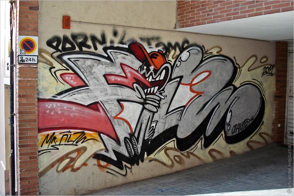 Стрит-арт и граффити Барселоны, Испания. Изображение № 28.