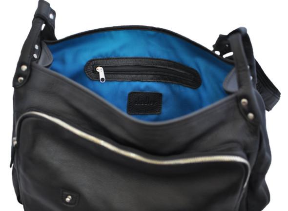 Черная кожа, синяя подкладка.. Изображение № 2.