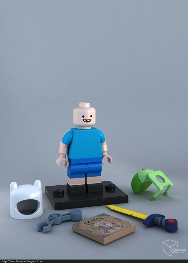 Концепт: персонажи Adventure Time в LEGO. Изображение № 3.