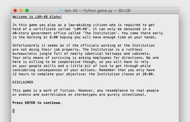 Я пишу текстовую игру для Python: альфа-версия. Изображение № 3.