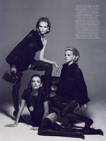Новая черно-белая фотосерия Питера Линдберга (Vogue). Изображение № 6.