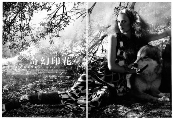 Съёмка: Карен Элсон для китайского Vogue. Изображение № 1.