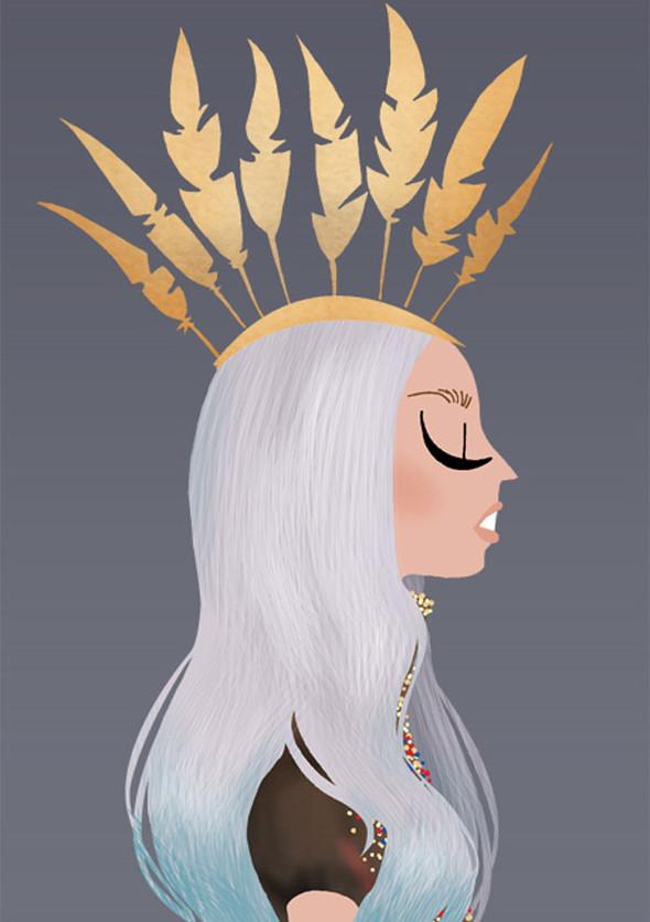 Иллюстрации образов Lady Gaga от Adrian Valencia. Изображение № 7.