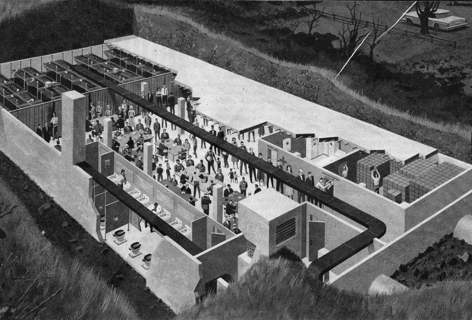Какими представляли бомбоубежища в разгар холодной войны. Изображение № 6.