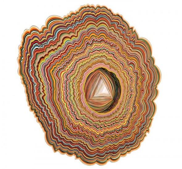 Абстракция из цветной бумаги. Изображение № 10.