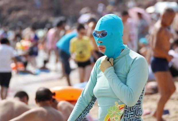 Фейскини - новый тренд пляжной моды в Китае. Изображение № 1.