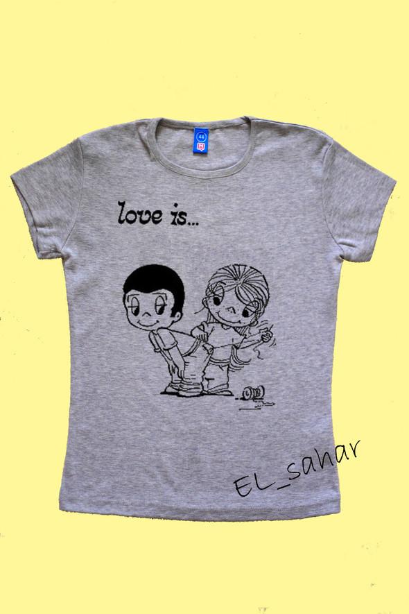 Elsaharova: половинчатые футболки на 14 февраля. Изображение № 22.