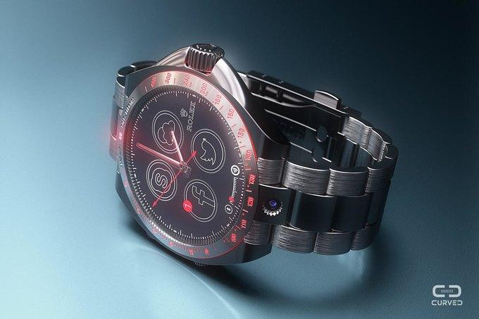 Немецкое издание представило концепцию гибрида iWatch и Rolex . Изображение № 2.