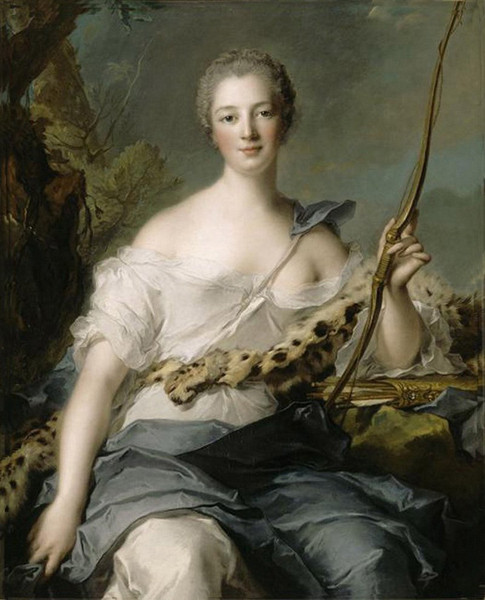 «Портрет маркизы де Помпадур» Жана-Марка Наттье . Изображение № 10.
