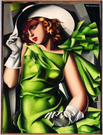 Тамара Лемпицка «Девушка в зеленом платье». Изображение № 4.