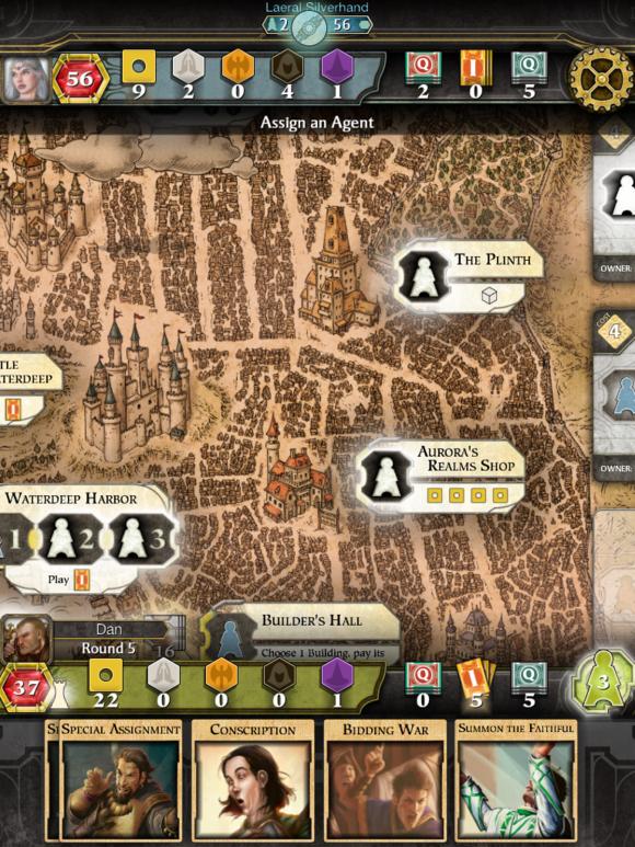 Под iOS вышла настольная игра Lords of Waterdeep. Изображение № 1.