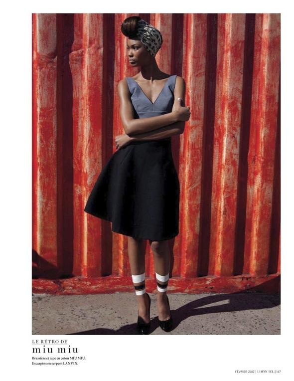 Съёмка: Шанель Иман для L'Officiel. Изображение № 5.
