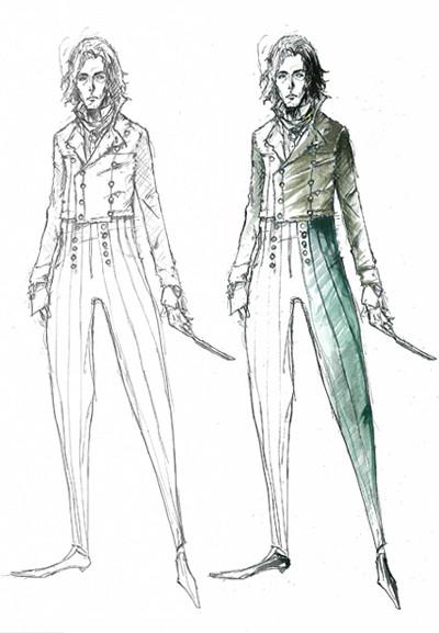 "Эскиз костюма Суини Тодда/ ""Суини Тодд, демон-парикмахер с Флит-стрит"". Изображение № 65."