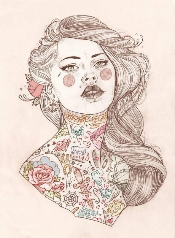 Карандашные рисунки художницы из Лондона Liz Clements.. Изображение № 12.