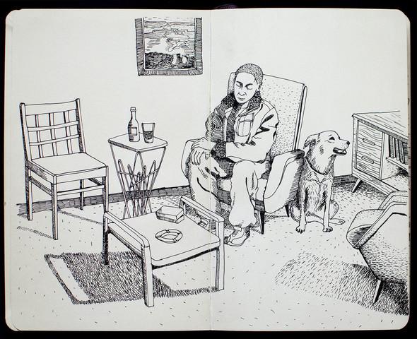 Чёрные ручки, молескин. Изображение №1.