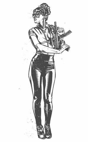 Девушки с оружием от Frank Barbara. Изображение № 27.