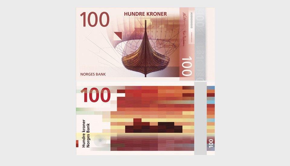 Пиксельная норвежская крона