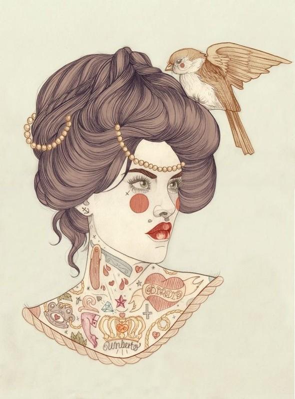 Карандашные рисунки художницы из Лондона Liz Clements.. Изображение № 3.