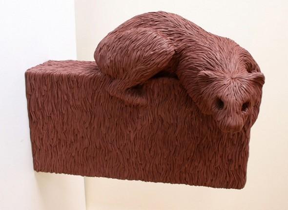 """""""Меховые"""" скульптуры из керамики, резины и бронзы. Изображение № 11."""