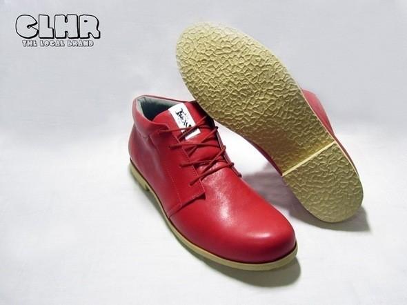 Ботинки Coolhere Red с олдскульной подошвой. Изображение № 11.