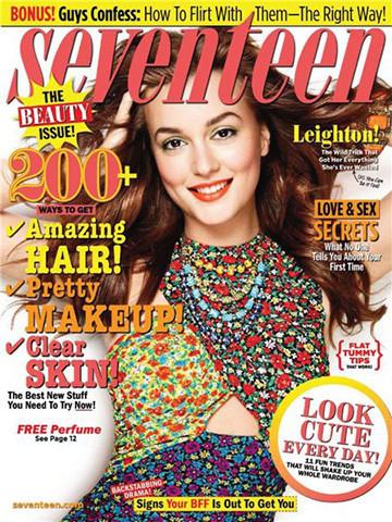 Обложка Seventeen, февраль 2011, фотограф Клифф Уотс. Изображение № 76.
