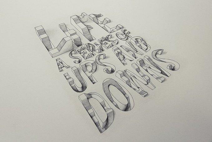 Иллюстратор рисует трёхмерные шрифты . Изображение № 6.