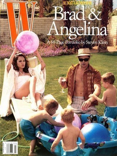 Фотоссесия Бреда Питта иАнджолины Джоли (2005) дляW. Изображение № 1.