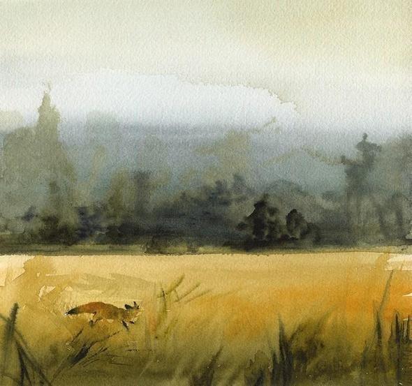 Изображение 62. Amber Alexander - животные, сияющие акварелью.. Изображение № 60.