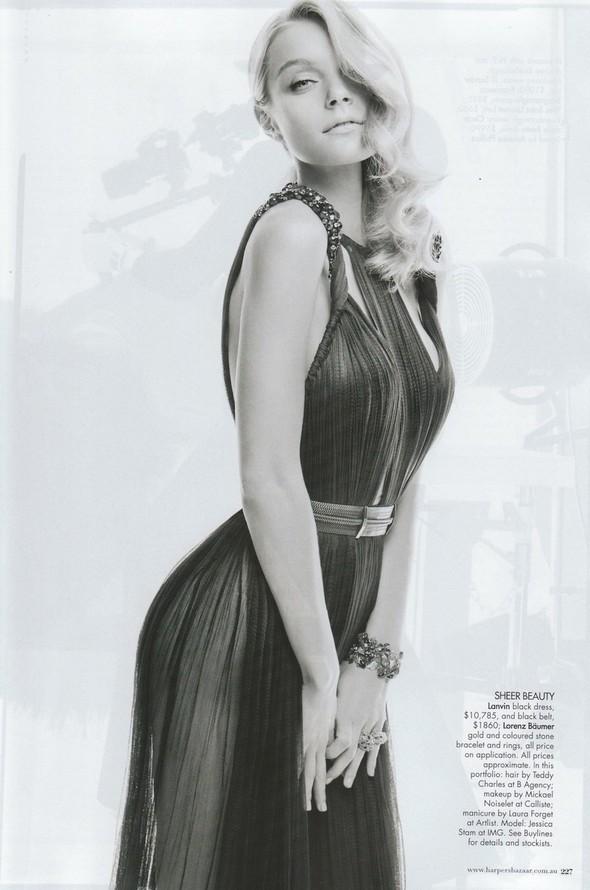 Съёмка: Джессика Стэм для Harper's Bazaar. Изображение № 10.