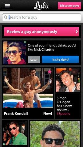 Новое приложение Lulu позволяет оценивать парней. Изображение № 1.