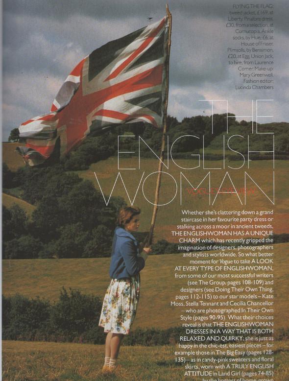 Архивная съёмка: Тим Уокер для Vogue, 1996. Изображение № 1.
