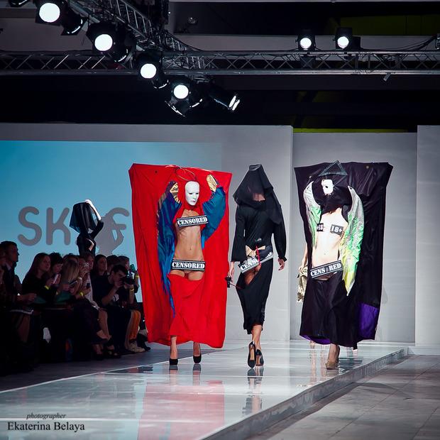 Fashion-перфоманс от SKIF Fashion. AURORA FASHION WEEK Russia SS13. Изображение № 2.