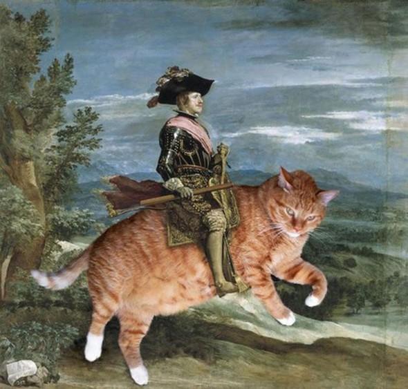 Новый взгляд на полотна великих художников. В главной роли кот. Изображение № 22.